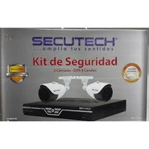 Kit Camaras De Seguridad Secutech Dvr 4ch 2cam 650tvl Cctv