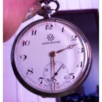 Relógio De Bolso Marca Mirvaine A Corda Swiss Made Antigo