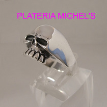 Anillo De Calavera Keith Richards En Plata Ley 0.925 Vv4
