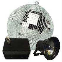 Esfera Espejada Bola 60 + Motor + Spot Par 36 C/lampara Gtia