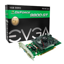 Placa De Vídeo Geforce 9800gt 1gb Gddr3 256 Bits Pci-e Evga