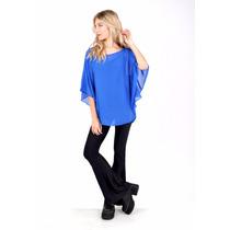 Poncho,blusa,gasa,ideal Para Talles-axioma