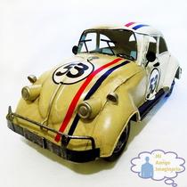 Herbie 53 Vocho Escala Volkswagen Vintage Metal Retro Grande