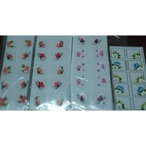 3 Cartelas 30 Adesivos Artesanais Feitos Mão Varios Modelos