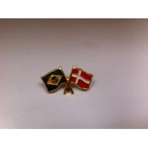 Pins Da Bandeira Do Brasil X Dinamarca