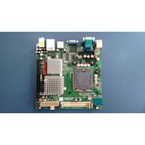 Placa Mãe Mini Itx 775 Ddr2 Advantech 262 + 2gb Memoria Ddr2