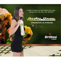Escova Progressiva Kit 1000 Ml Brazilian Flowers Brilhou