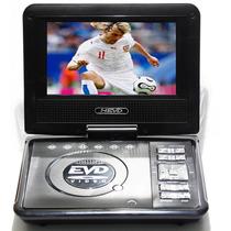 Dvd Portatil Multimedia Tv 7 Tela Lcd Cd Sd Usb Fm 300 Jogos
