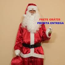Roupa De Papai Noel Extra Grande Completa Frete Grátis G6