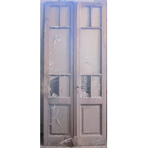 Puertas Dobles Antiguas Madera Vidrio Repartido