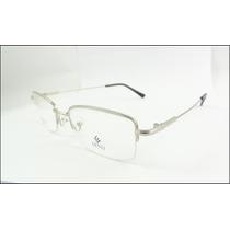 Armação Oculos Grau Titanium Prata Suporta Lente Grossa A620