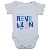 Body Bebê Primeiro Reveillon Menino Ano Novo 2016 Algodão