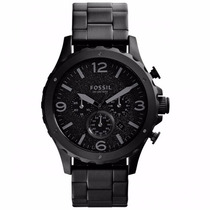 Relógio Masculino Fóssil Aço Todo Preto Cronógrafo Jr1470