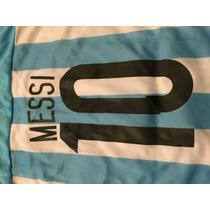 Conjunto Argentina Messi Estampado Chicos Escudos Bordados
