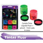 Tinta Corporal Neon + Pincel + Glitter
