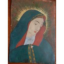 Antiguo Retablo De Virgen