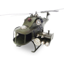 Helicoptero De Ferro Fundido Exercito Vintage Retro 40cm