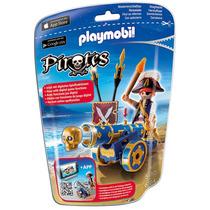 Playmobil Cañón Interactivo Azul Con Pirata 6164 4-10 Años