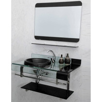 Kit Gabinete /pia/ Bancada Banheiro Estilo Astra Chopin 90cm