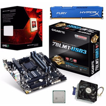 Kit Placa Mãe Ga-78lmt-usb3 Hdmi + Amd Fx 6300 4.10ghz + 8gb