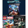 Injustice Gods Among Us + Dc Universe + Lego Marvel Ps3