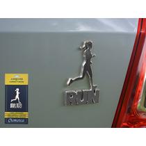 Emblema Alto Relevo 3d 3m Para Auto Corrida Mulher Cromado