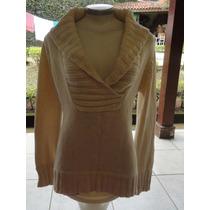 Blusa Zara Knit Importada Feminino - Tam. L=g. Creme Linda