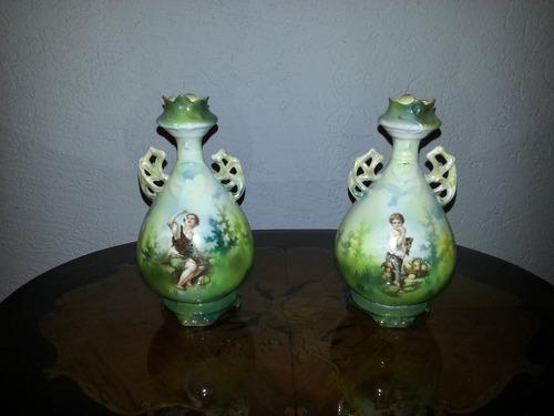 Jarrones De Porcelana Aleman - $ 180.000 en Mercado Libre