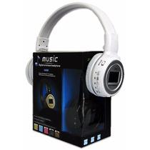 Mp3 Fone De Ouvido Headphone Sem Fio Cartão Sd Rádio Fm Usb