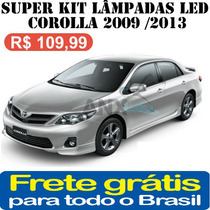 Super Kit Lampadas Led Toyota Corolla 2009 / 2013 Alto Brilh