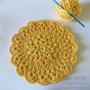 Mandala Carpeta Posa Posa - Tejido Al Crochet -