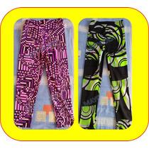 Leggins Deportivos Para Niña Largos Lycra Pantalon Estampado