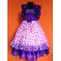 Vestido Infantil Princesa/festa Frufru C/bolinhas Coloridas
