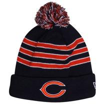 Chicago Bears New Era Beanie Gorro Lana Pom Con Polar Nfl