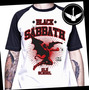 Camiseta Raglan Black Sabbath Ou Baby Look Rock Banda Metal