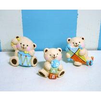 Puxador De Gaveta Infantil - Urso Pipa, Tambor, Dado