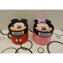 Mickey Y Minnie Souvenir Cajita Golosinera 8,5x 8,5