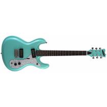 Guitarra Electrica Aria Dm-380 Psgr Retro Color Verde