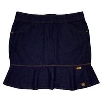 Saia Jeans Mini Com Babado Tamanho 38 40 42