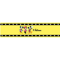 10 Rótulos Água Personalizado Mickey E Minie