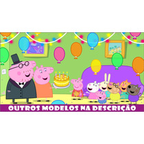 Painel Banner Lona Decorativo Festa Banner Peppa Pig 2x1m