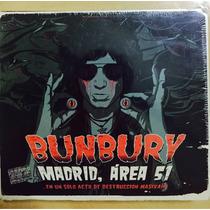 Enrique Bunbury Madrid Area 51 2 Cd+ 2 Dvd