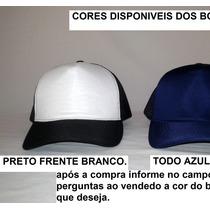 Bonés De Tela, Aba Curva, Trucker, Sem Estampa, Lindas Cores