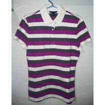 Camisa Polo Tommy Feminina 03 Cores Lilás,cinza E Bege Tm G
