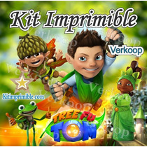 2x1 Kit Imprimible Tree Fu Tom + Candy Bar Fiesta