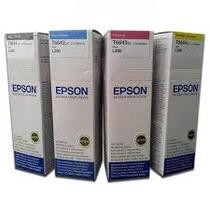 Combo Tintas Para Epson Originales L200 L210 L355 L555 T6641