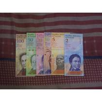 Lote De 6 Billetes De Venezuela (sin Repetir)