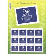 Brasil-folha Com 12 Selos Emissão Particular,90 Anos Palacio