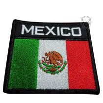 Bandera De México Parche Bordado Escudos,insignias 8x8cm