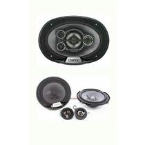 Clarion Set Medios350w,y 6x9 600w,subw 1000w,amplif 5 Ch!